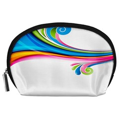 Colored Lines Rainbow Accessory Pouches (large)
