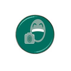 Laughs Funny Photo Contest Smile Face Mask Hat Clip Ball Marker (4 Pack)
