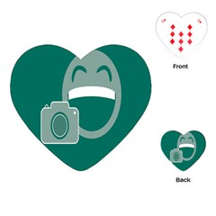 Laughs Funny Photo Contest Smile Face Mask Playing Cards (heart)