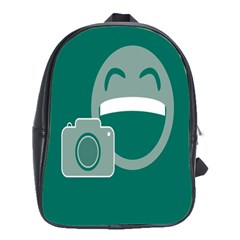 Laughs Funny Photo Contest Smile Face Mask School Bags(large)