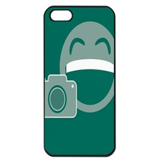 Laughs Funny Photo Contest Smile Face Mask Apple Iphone 5 Seamless Case (black)