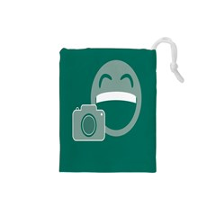 Laughs Funny Photo Contest Smile Face Mask Drawstring Pouches (small)