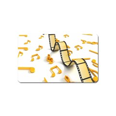 Isolated Three Dimensional Negative Roll Musical Notes Movie Magnet (name Card)