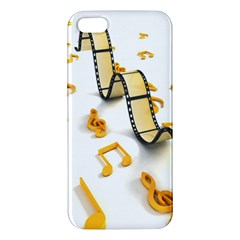 Isolated Three Dimensional Negative Roll Musical Notes Movie Iphone 5s/ Se Premium Hardshell Case