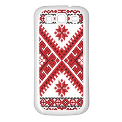 Fabric Aztec Samsung Galaxy S3 Back Case (white)