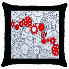 Iron Chain White Red Throw Pillow Case (black)