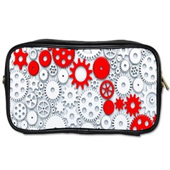Iron Chain White Red Toiletries Bags 2 Side