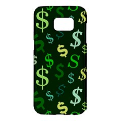 Money Us Dollar Green Samsung Galaxy S7 Edge Hardshell Case