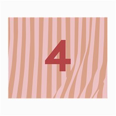 Number 4 Line Vertical Red Pink Wave Chevron Small Glasses Cloth