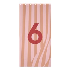 Number 6 Line Vertical Red Pink Wave Chevron Shower Curtain 36  X 72  (stall)