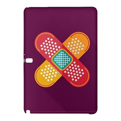 Plaster Scratch Sore Polka Line Purple Yellow Samsung Galaxy Tab Pro 10 1 Hardshell Case