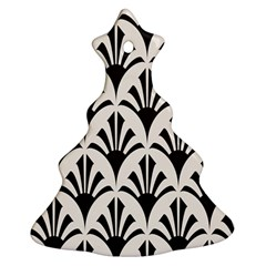Parade Art Deco Style Neutral Vinyl Christmas Tree Ornament (two Sides)