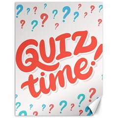Question Mark Quiz Time Canvas 12  X 16