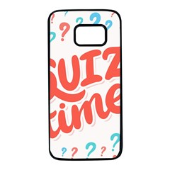 Question Mark Quiz Time Samsung Galaxy S7 Black Seamless Case