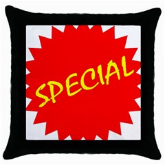 Special Sale Spot Red Yellow Polka Throw Pillow Case (black)