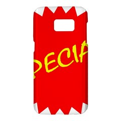 Special Sale Spot Red Yellow Polka Samsung Galaxy S7 Hardshell Case
