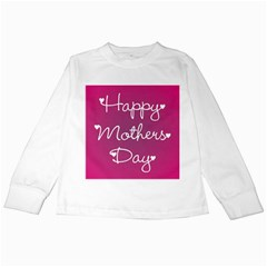 Valentine Happy Mothers Day Pink Heart Love Kids Long Sleeve T Shirts