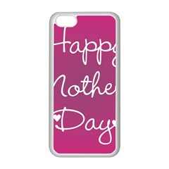 Valentine Happy Mothers Day Pink Heart Love Apple Iphone 5c Seamless Case (white)