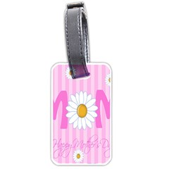 Valentine Happy Mothers Day Pink Heart Love Sunflower Flower Luggage Tags (two Sides)