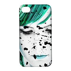 Beauty Woman Close Up Artistic Portrait Apple Iphone 4/4s Hardshell Case With Stand