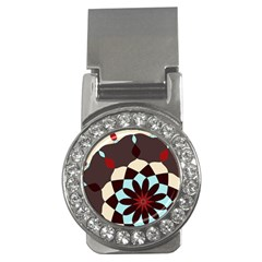 Red And Black Flower Pattern Money Clips (cz)