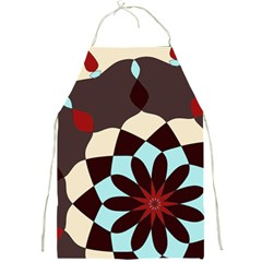 Red And Black Flower Pattern Full Print Aprons
