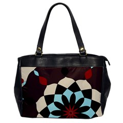 Red And Black Flower Pattern Office Handbags