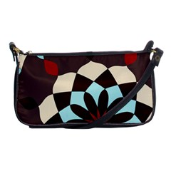 Red And Black Flower Pattern Shoulder Clutch Bags