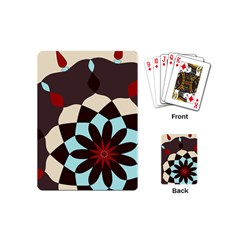 Red And Black Flower Pattern Playing Cards (mini)