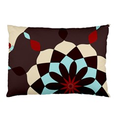 Red And Black Flower Pattern Pillow Case (two Sides)