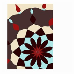 Red And Black Flower Pattern Large Garden Flag (two Sides)
