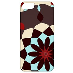 Red And Black Flower Pattern Apple Iphone 5 Classic Hardshell Case