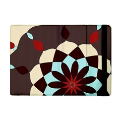 Red And Black Flower Pattern Apple Ipad Mini Flip Case
