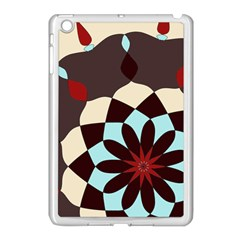 Red And Black Flower Pattern Apple Ipad Mini Case (white)