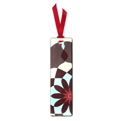 Red And Black Flower Pattern Small Book Marks