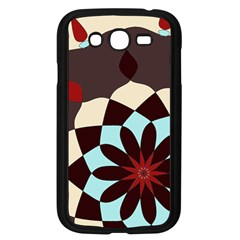 Red And Black Flower Pattern Samsung Galaxy Grand Duos I9082 Case (black)