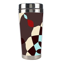 Red And Black Flower Pattern Stainless Steel Travel Tumblers