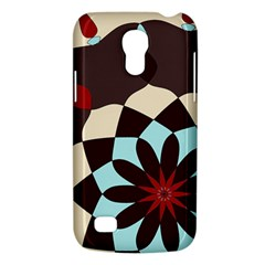 Red And Black Flower Pattern Galaxy S4 Mini