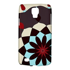 Red And Black Flower Pattern Galaxy S4 Active