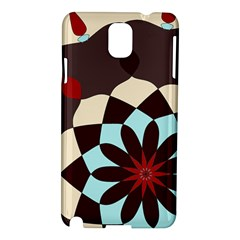 Red And Black Flower Pattern Samsung Galaxy Note 3 N9005 Hardshell Case