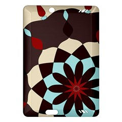 Red And Black Flower Pattern Amazon Kindle Fire Hd (2013) Hardshell Case