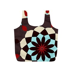Red And Black Flower Pattern Full Print Recycle Bags (s)