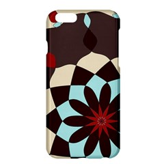 Red And Black Flower Pattern Apple Iphone 6 Plus/6s Plus Hardshell Case