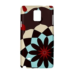 Red And Black Flower Pattern Samsung Galaxy Note 4 Hardshell Case