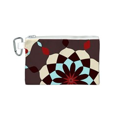 Red And Black Flower Pattern Canvas Cosmetic Bag (s)