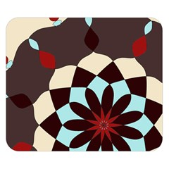 Red And Black Flower Pattern Double Sided Flano Blanket (small)