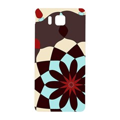 Red And Black Flower Pattern Samsung Galaxy Alpha Hardshell Back Case