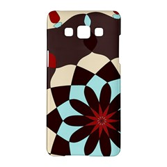 Red And Black Flower Pattern Samsung Galaxy A5 Hardshell Case