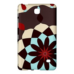 Red And Black Flower Pattern Samsung Galaxy Tab 4 (8 ) Hardshell Case