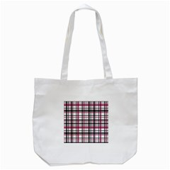 Plaid Pattern Tote Bag (white)